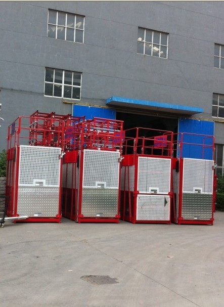 Electric Cage Hoist Large Capacity Lifting , Construction Hoist Elevator