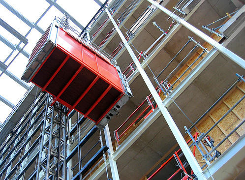 Strong Flexibility Construction Site Elevator Anti - Corrosion Low Mechanical Wear