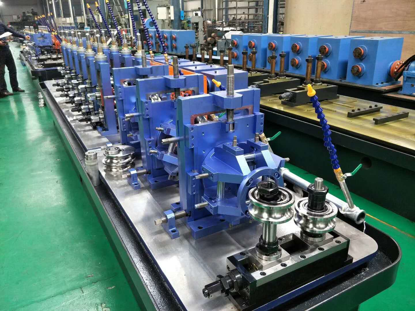 Welded Tube Mill Equipment 7 - 18 Mm OD , Carbon Steel Pipe Mill Production Line