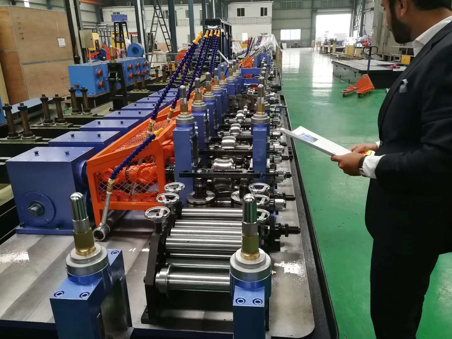 Custom Welded Pipe Machine , Large High Frequency Pipe Welding Machine
