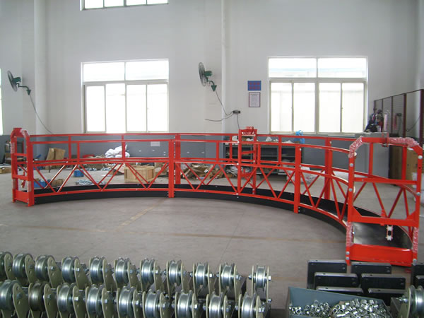 8 -10 m / min Aluminum Alloy Arc Rope Suspended Window Clean Platform