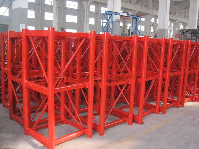 Personalized Q345B Steel Hoist Tower Crane Parts 650 × 650 × 1508 mm