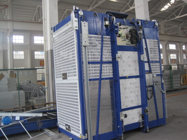 Twin Cage Personnel Hoist Industrial Lift Construction Elevator