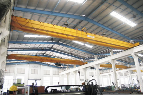 LH Double Girder Electric Overhead Crane with Electric Hoist ,125 / 32t Rated Capacity