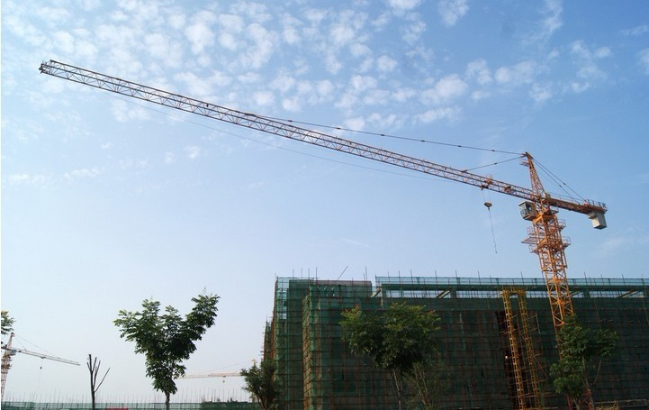 6ton Potain Tower Crane with 55m Height Under Hook , 1.3ton Tip Load Tower Crane 5013