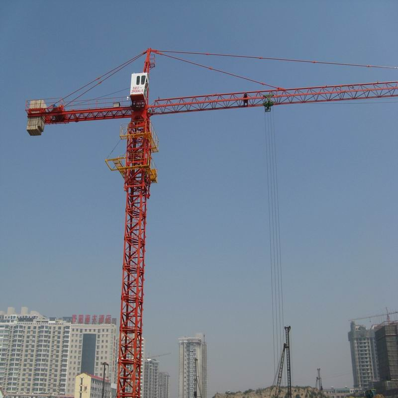 12 ton Max Lifting Capacity Topless Tower Crane 101m Height Under Hook